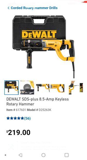 Dewalt SDS-Plus 8.5-amp Keyless Rotary Hammer for Sale in Portland, OR