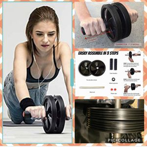 Ab Roller Wheel for Abdominal Exercises and Advanced Core Fitness - Includes Soft Knee Pad, Storage Bag for Sale in Azusa, CA