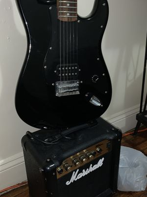 "Guitar Electric ""Squier"" And the electric Bass ""Marshall"" for Sale in The Bronx, NY"
