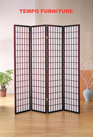 4 Panel Room Divider, Cherry, #7033CH for Sale in Norwalk, CA