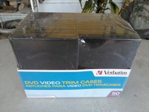 DVD Video Black Trim Cases By Verbatim (Qty 49) New. L@@K!!! for Sale in Mesa, AZ