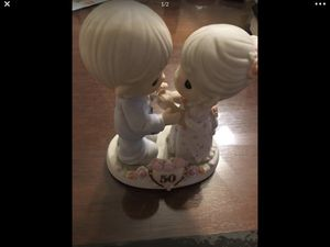 Collectible Precious moments 50th Anniversary porcelain figures for Sale in Pasadena, CA