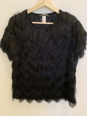 H&M HM black fringe shirt small for Sale in Miami, FL