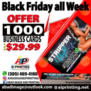 1k -Business Cards for $29.99 Promo Code BS9482 for Sale in Hialeah, FL