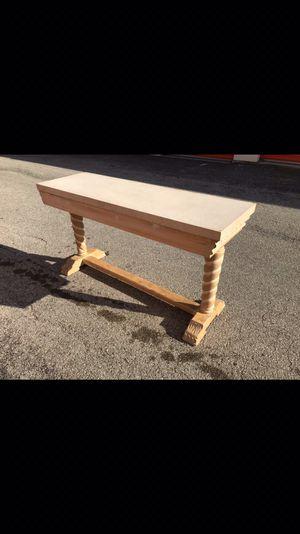 Super sturdy Solid Consol table 140 for Sale in Orlando, FL