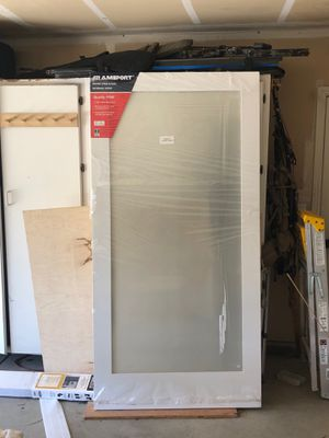 Brand new door with frosted glass for Sale in Clovis, CA