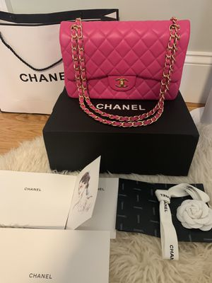 Chanel fuchsia pink classic double flap bag today only!! for Sale in New York, NY