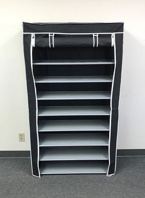 "(NEW) $25 each 10-Tiers 45 Shoe Rack Closet with Fabric Cover Storage Organizer Cabinet 36x12x62"" for Sale in Pico Rivera, CA"