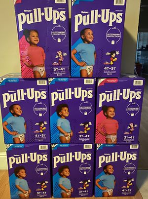 Huggies pull ups for girls or boys 3-4T or 4-5T for Sale in Hialeah, FL