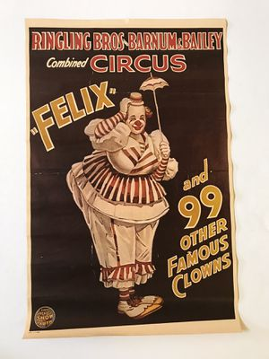 Ringling Bros. Barnum & Bailey Felix the Clown Poster for Sale in Seattle, WA