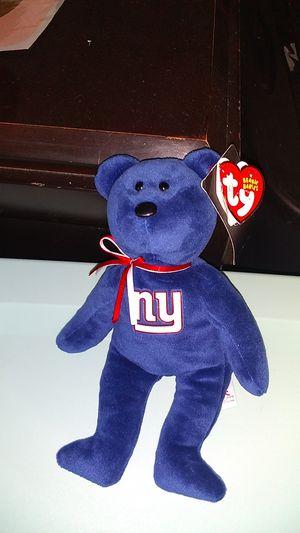 Ny Giants beanie baby brand bear for Sale in Murfreesboro, TN