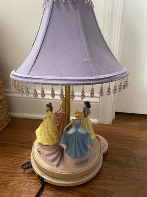 Disney princess lamp talking dancing , great condition . Rare edition for Sale in Columbia, MD
