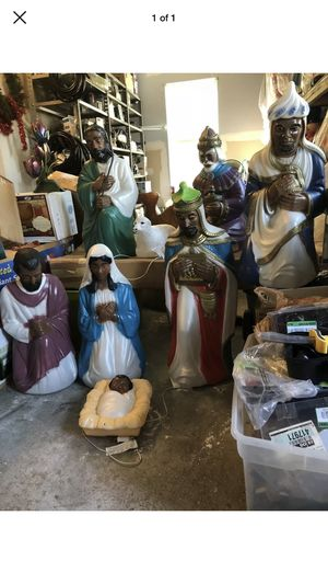 Nativity blow mold scene - 8 pc set for Sale in Chesapeake, VA
