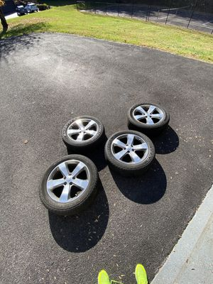 Alloy Jeep Grand Cherokee Rims and Tires combo. With Wheel lock and key ! for Sale in Baltimore, MD