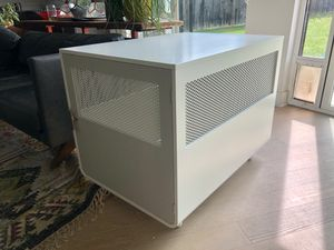 Large Modern White Dog Crate and Side Table for Sale in Austin, TX