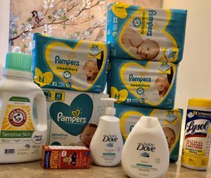 Loaded Pampers & Dove Newborn Bundle for Sale in Swissvale, PA