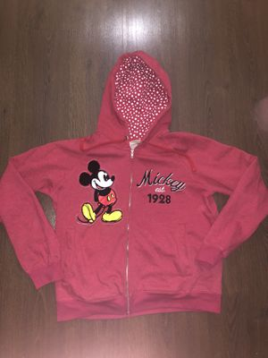 Adult XL Disney Sweatshirt. Full zip lined hoodie with Mickey est 1928 and Mickey Mouse patch. Great condition, lightly worn. for Sale in Tempe, AZ