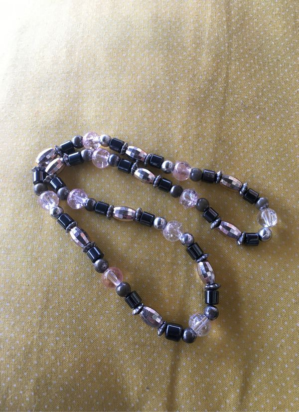 Women's Necklace custom plastic stones multiple colors