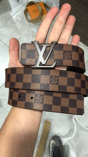 Louis Vuitton Brown Damier Ebene Belt *Authentic* for Sale in Queens, NY