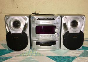 Panasonic Sa-ak18 5 Disc CD Am/fm Dual Cassette & AUX Stereo System pick up loc skokie IL for Sale in Skokie, IL