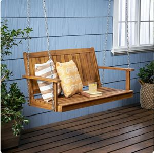 Teak Color Wood Porch Swing Lounge Chair for Sale in ROWLAND HGHTS, CA