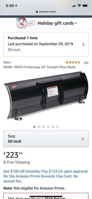Warn plow blade and push tube attachment for Sale in Edmonds, WA