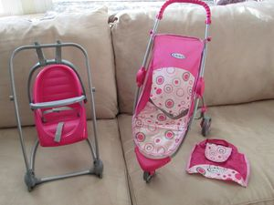 Graco Doll Stroller& Swing Travel Seat for Sale in Spring, TX