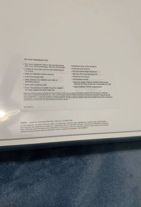 MacBook Pro 16inch 1TB