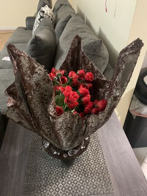 Hand Crafted Cement Flower Vase for Sale in Wylie, TX