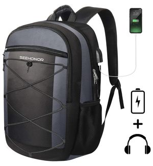 Laptop Backpack, SEEHONOR Travel Laptop Backpack with USB Charging Port, 15.6 Inch Slim Business Computer Backpack for Men Women Water Resistant Anti for Sale in Highland Park, NJ