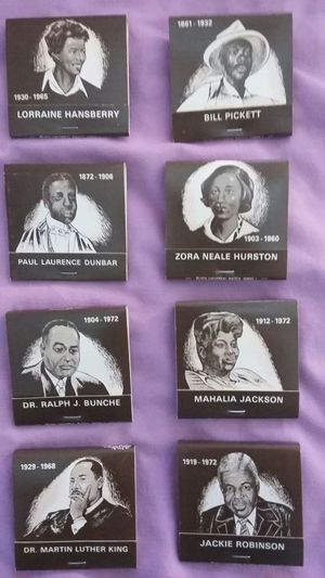 Vintage Famous African-American match book set for Sale in Tempe, AZ