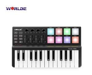 Worlde Panda High Quality 25 Keys USB Keyboard and Drum Pad MIDI Controller NEW for Sale in San Bernardino, CA