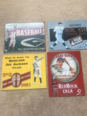 Antique metal baseball signs for Sale in Poway, CA
