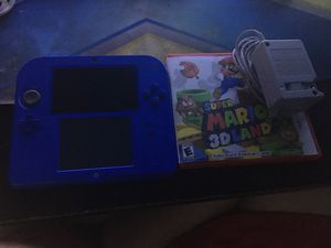 Nintendo 2ds with Mario kart 7 on sd card with Nintendo, also with Super Mario 3D land and charger for Sale in Garland, TX