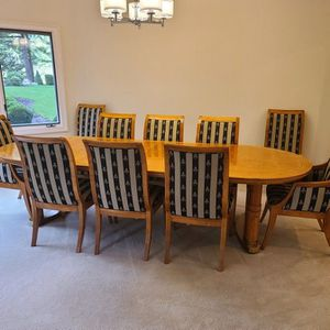 Dining Room Table and 10 Chairs for Sale in West Linn, OR