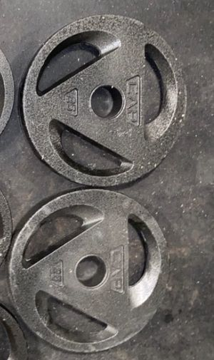 2-25lb plates for Sale in Mission, TX