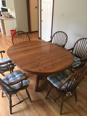 Solid Oak Dining Table Set for Sale in Springfield, VA