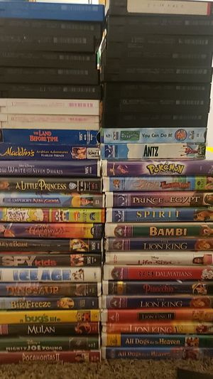 Disney and dream works vhs movies for Sale in Santa Fe Springs, CA