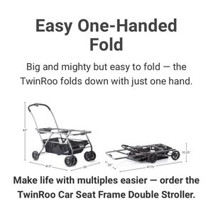 TwinRoo + infant car seat frame double stroller for Sale in Pinole, CA