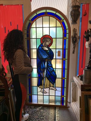 Antique stain glass window for Sale in Bryn Athyn, PA