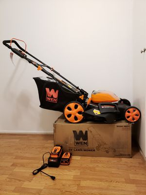 """WEN 40-Volt Max Lithium Ion 19"""" Lawn Mower for Sale in Culver City, CA"""