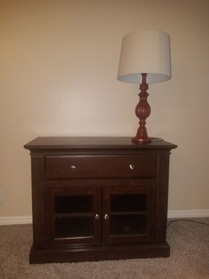 TV Stand / Red Lamp for Sale in Sandy, UT