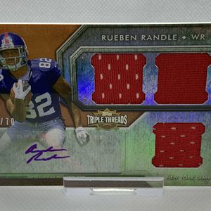 2012 Topps 🏈 Rueben Randle 🏈 Triple Threads RC AUTO #52/70 - Giants / Eagles / Bears for Sale in Santee, CA