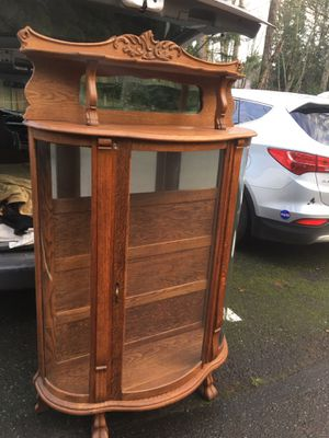 Beautiful antique china hutch display case for Sale in Redmond, WA
