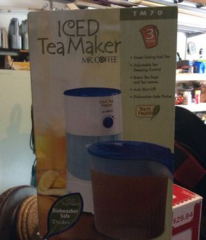 MR. COFFEE Iced Tea Maker 3 qt. NEW IN BOX for Sale in Jacksonville, FL