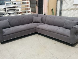 NEW 9X9FT CHARCOAL MICROFIBER SECTIONAL COUCHES for Sale in Long Beach,  CA