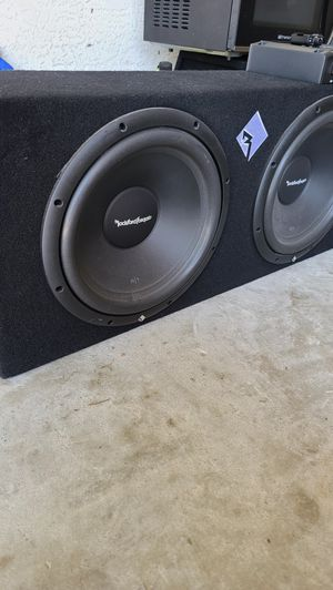 "Rockford Fosgate 12"" subs and amp for Sale in NEW PRT RCHY, FL"