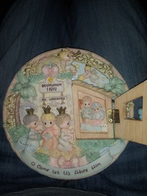 1998 precious moments come let us adore him bethlehem saucer 3d for Sale in Gainesville, GA