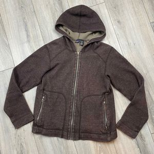 Patagonia ribbed fleece hoodie* women's small* Dark Purple almost brown Good shape* for Sale in Spokane, WA