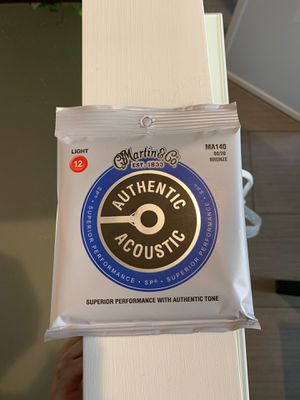 Brand New Martin acoustic guitar strings for Sale in Fresno, CA